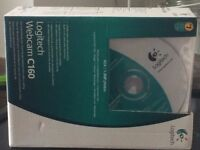 Logitech Webcam C160 with box, instructions and software