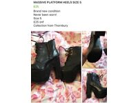 High heeled Boots size 5 brand new! Never worn!