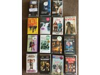 A selection of 15 VHS films