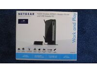 Netgear Wireless Router N300 ADSL2 - Boxed with all the bits/wires etc