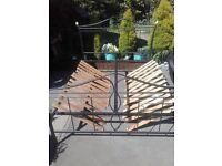 King Size metal Bed Frame and wood one