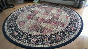 Round Multi color room rug