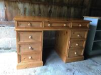 Lovely Solid Pine Desk in Very Good Condition