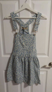 Floral Overall Dress! Never Worn w Tags!!!