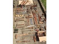 Huge bundle of vintage antique carpenter tools cheap for quick sale