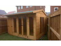 contemporary summerhouse and shed combination