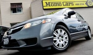 2009 Honda Civic DX! A/C+36MPG! ONLY $144/bi-weekly!