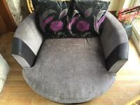 Round swivel sofa spin chair
