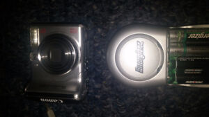 Canon Digital Camera, Energizer Charger and Batteries