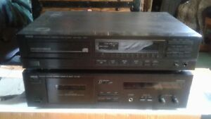2  piece matching  stereo  components  disc & tape deck