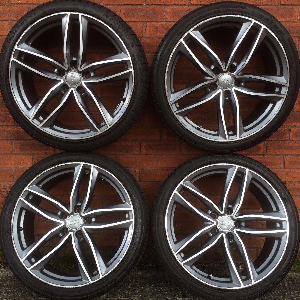 Audi 20 inch alloy wheels tyres A4 A6 A8 VW Pat Skoda Octavia ...