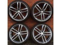 Audi 20 inch alloy wheels tyres A4 A6 A8 VW Passat Skoda Octavia Superb Seat Exeo not 18 19 alloys