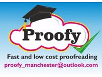Proofy: Fast and low cost proofreading for professional and academic documents