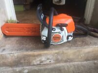 Stihl MS171 chainsaw 14 inch 5 years old used 3 times. New chain fitted.