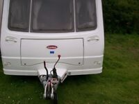 coachman vip 4 berth end shower dressing room full awning alloy wheels ex condition