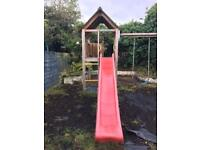 Branded jungle gym house climbing frame slide and swings