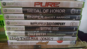 Xbox 360 and 8 games.