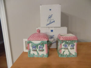 Avon Cottage Country Tea Pot, Utensil Holder and Sugar Cream Set