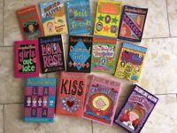 Set of 14 Jacqueline Wilson Girls reading books