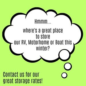 Private RV, Motorhome and Boat Storage