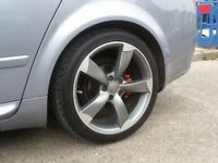 18 Inch Audi Rotar Alloy Wheels & Tyres (rs4 a3 tt a4 a6 bbs euro dub mk5 seat volkswagen)