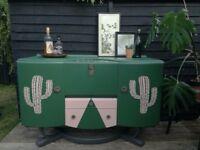 Vintage cocktail cabinet sideboard