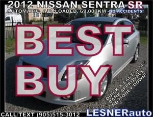 2012 NISSAN SENTRA SR  [SPORTIER more Premium- -NO ACCIDENTS!