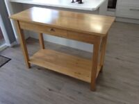 Large Console Table - Solid Oak - £110