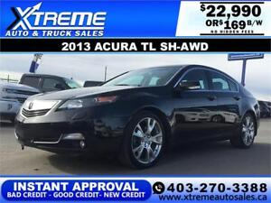2013 Acura TL SH-AWD $169 bi-weekly APPLY NOW DRIVE NOW