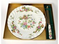 Boxed Crown Stafford Pagoda Cake Plate