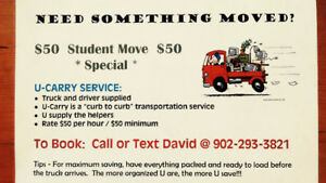 Student Move Special $50.00