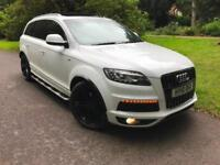 2010 Audi Q7 3.0TDI 237bhp,S Line,PANORAMIC S/ROOF,Exclusive White/Blk Leather