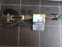 Xbox 360 guitar hero live game and guitar