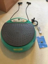 Vibrating power disc, as new , used only a handful of times, with weights ,dvd, mat etc