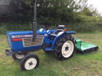 Iseki TU1700 2WD Compact Tractor with new 1.1 meter Topper Mower