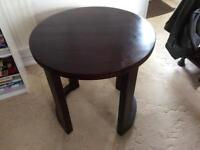 Dark oak, side/occasional table, round