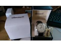 Ingersoll dual time watch, limited edition 2 time zones automatic watch