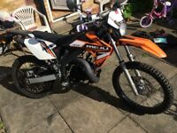 For Sale Reiju MRT 50, 2014, 12 Months MOT, ONLY 950 MILES derestricted geared 50cc