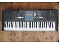 Full size Yamaha PSR-E333 Electric Keyboard with USB midi function.