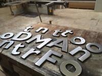 Metallic Effect Plastic Lettering For Sale