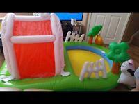 Inflatable children's farm pool