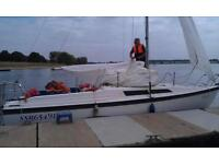 Macgregor sail boat 26ft, with trailer.