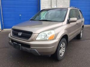 2003 HONDA PILOT 4WD 8 PASSENGER/3RD ROW  LEATHER HEATED SEATS