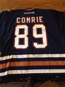 Signed Mike Comrie NHL Player Jersey