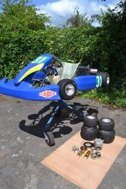 Go Kart Hasse Pulsar with 100cc Titan rotary valve engine