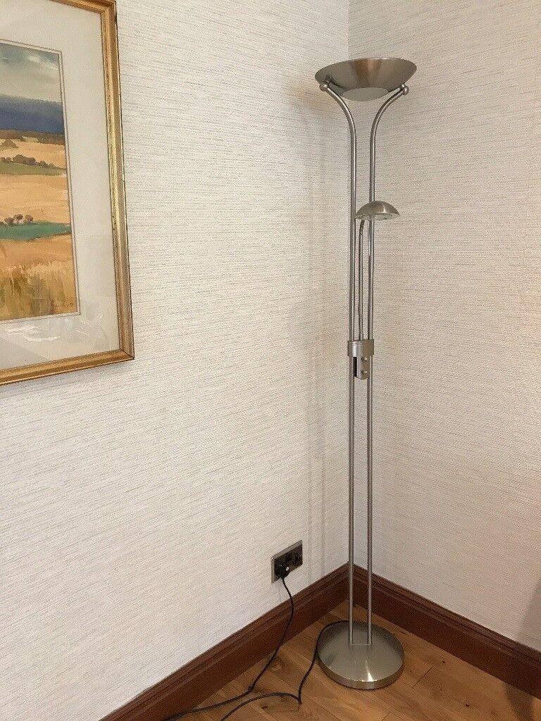 John Lewis Zella Uplighter Floor Lamp, Antique Brass | in Bearsden ...