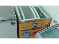 Glass lid chest freezer