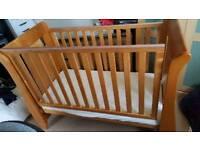 katie sleigh cot bed real oak