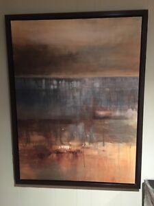 33x43 modern abstract painting of boat