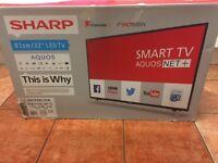 """AS NEW,32""""SHARP LED SMART WIRELESS HDTV"""